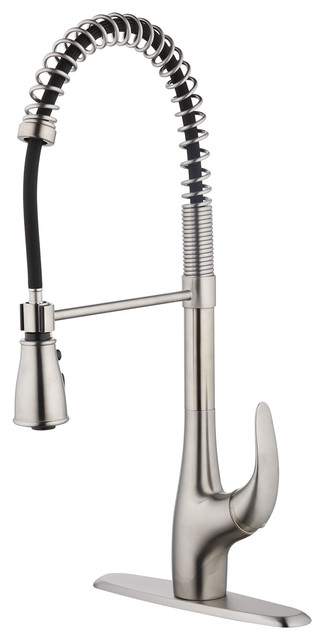 Sapphire Single Handle Semi Professional Kitchen Faucet Stainless Steel Contemporary Kitchen Faucets By Pf Waterworks