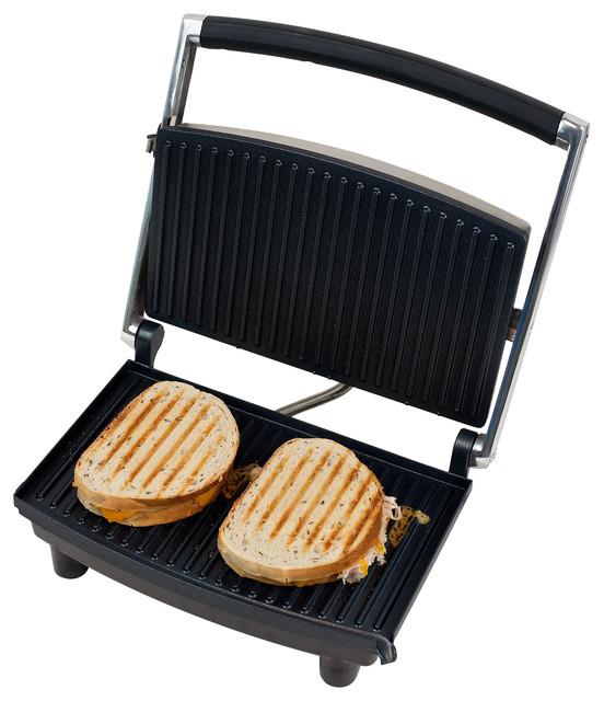 Panini Press Grill And Gourmet Sandwich Maker For Healthy Cooking, By Chef Buddy.