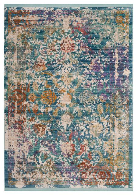 Safavieh Sutton Woven Rug, Turquoise/lavander, 5&x27;x7&x27;.
