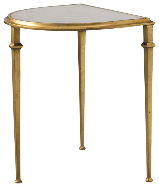 Lillian August Tria Cocktail Demilune In Gold La95312 01 Mediterranean Coffee Tables By