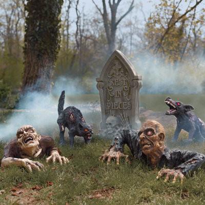 groundbreaker zombie scene halloween decorations and decor traditional holiday decorations