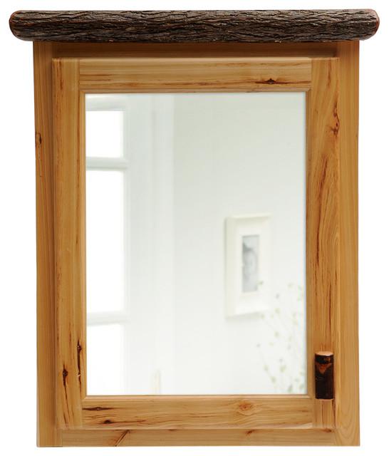 Fireside Lodge Furniture Company Hickory Medicine Cabinet Medium Espresso Hinged Left