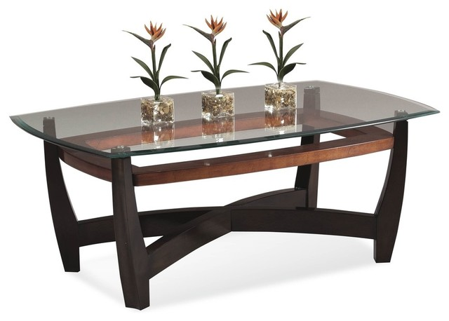Elation Rectangle Cocktail Table Copper Ring Transitional