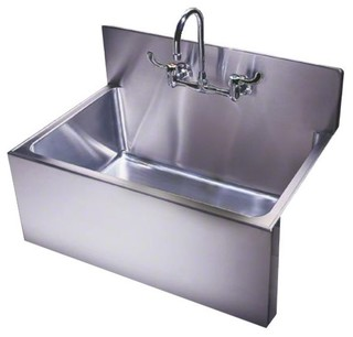 Just single bowl drop in sink 25x31x105 stainless steel with apron just single bowl drop in sink 25x31x105 stainless steel with apron backsplash industrial kitchen sinks by just sinks workwithnaturefo