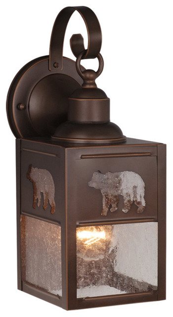 Bozeman 5 Outdoor Wall Sconce, Burnished Bronze.