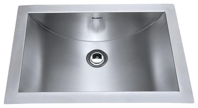 Ruvati 21 Undermount Stainless Steel Bathroom Sink Rvh6110