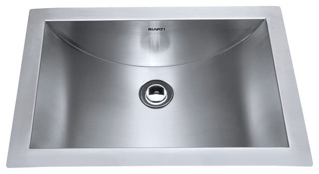 stainless steel bathroom sinks ruvati rvh6110 brushed stainless steel bathroom sink 20646