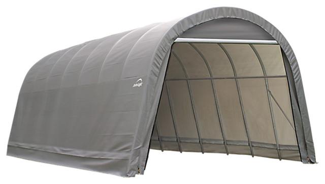 Shelter Logic Outdoor Sheltercoat Garage 12u0027x24u0027x10u0027 Round Standard Gray - Contemporary - Canopies u0026 Tents - by clickhere2shop  sc 1 st  Houzz & Shelter Logic Outdoor Sheltercoat Garage 12u0027x24u0027x10u0027 Round Standard ...