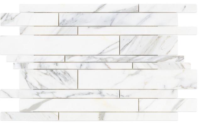 "12""x18"" Calacatta Tuscany Marble Tile, Single Sheet."