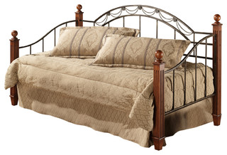 Camelot Wood Post Daybed w/Suspension Deck and Roll-Out Trundle