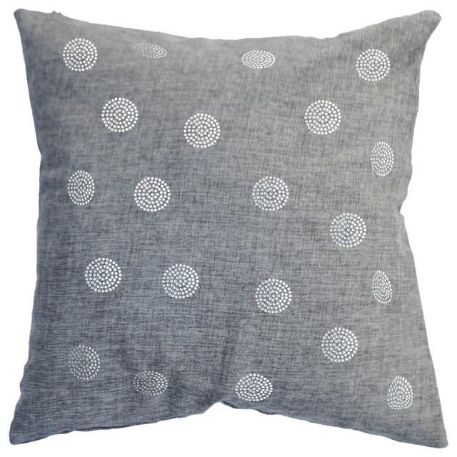 Throw Pillow With Rhinestone Bobble Design Decorative Pillows By Fascinating Rhinestone Decorative Pillows