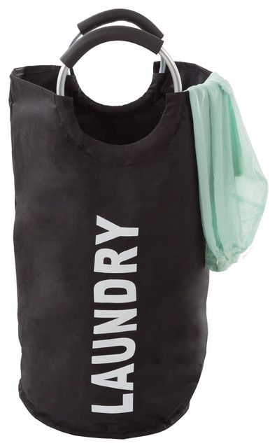 Laundry Hamper, Large Collapsible Canvas Clothes Basket With Round Handles.