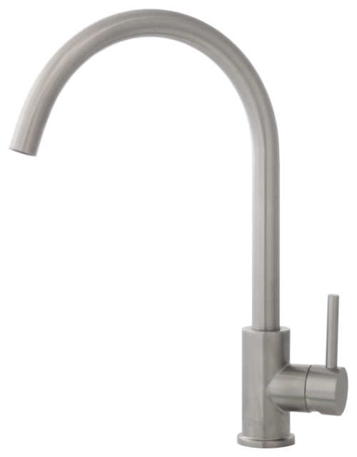 Single Handle Stainless Steel Kitchen Faucet