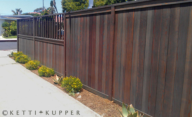 Wood Fence Stain Color Ideas
