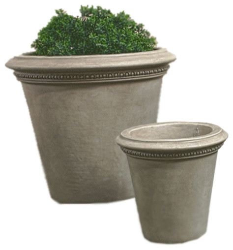 Corona Xl Outdoor Cast Stone Garden Planter Traditional Outdoor Pots And Planters By Tuscanbasins