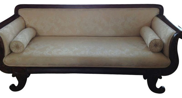 sold out beautiful victorian style sofa with curled legs. Black Bedroom Furniture Sets. Home Design Ideas