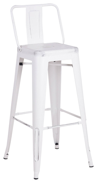 Outstanding Distressed Metal Barstools With Back White 24 Set Of 2 Forskolin Free Trial Chair Design Images Forskolin Free Trialorg