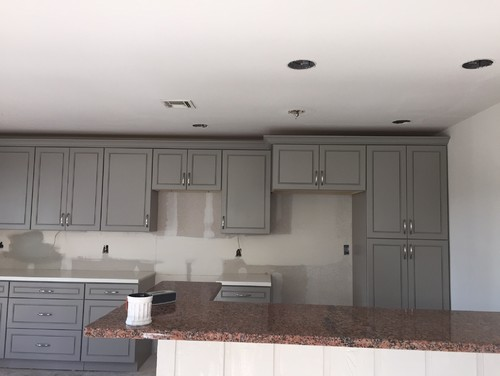 Superieur New Gray Cabinets Need Wall Color