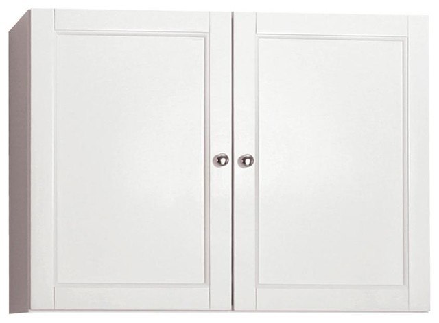 Berkshire White Laundry Wall Cabinet Contemporary Display And Wall Shelves