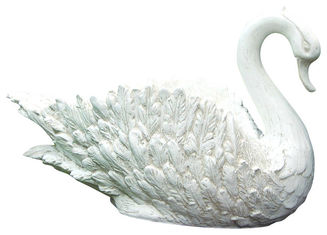 Swan Planter Traditional Outdoor Pots And Planters By Hickory Manor House