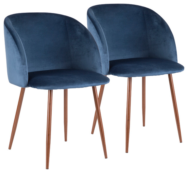 Williamstown Dining Chair, Brown/blue, Set Of 2.