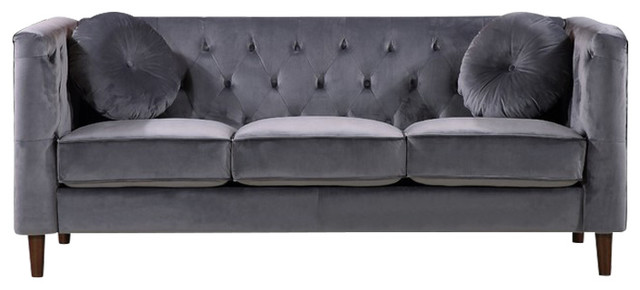 Kitts Classic Chesterfield Sofa, Gray