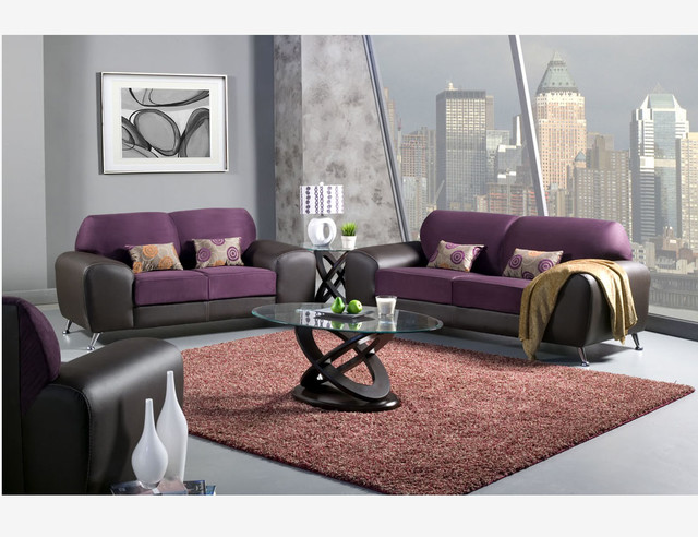 Grape Espresso Suede Leather Sofa Loveseat Chair Living