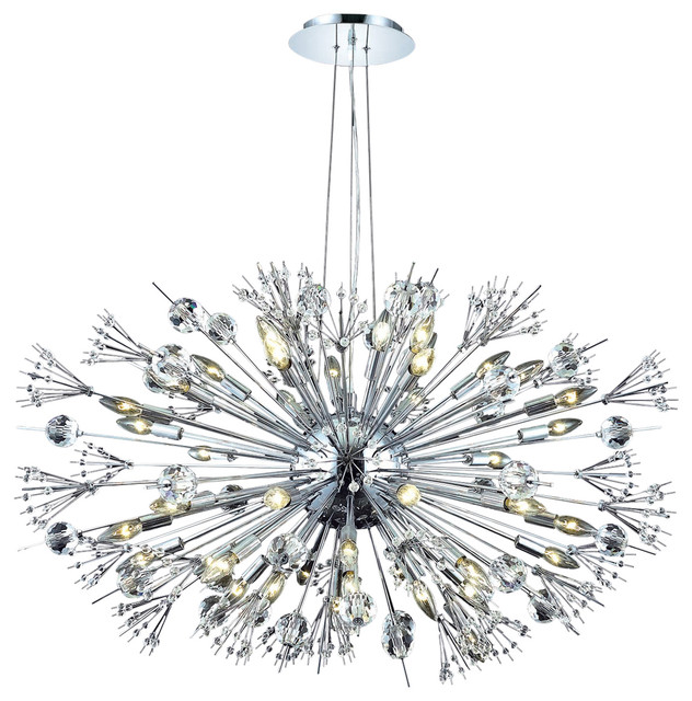starburst 24light chrome crystal sputnik chandelier - Starburst Chandelier