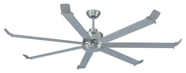 "Miseno Mfan-0701 70"" Indoor Ceiling Fan, Brushed Nickel."