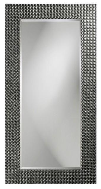 Lancelot Charcoal Gray Rectangle Mirror.