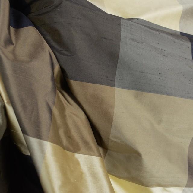 Bengal 6164-3247/1 Buffalo Check Silk Fabric