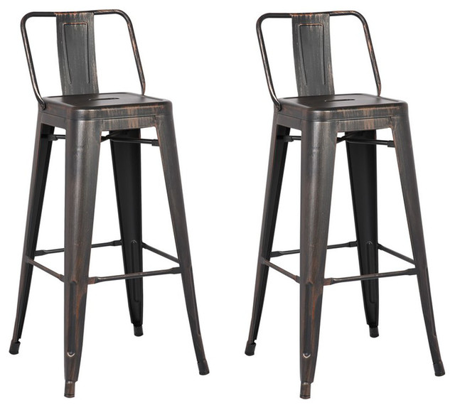 Outstanding 30 Distressed Metal Kitchen Barstools With Back Set Of 2 Black Forskolin Free Trial Chair Design Images Forskolin Free Trialorg