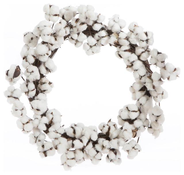 Cotton Boll Wreath 24.