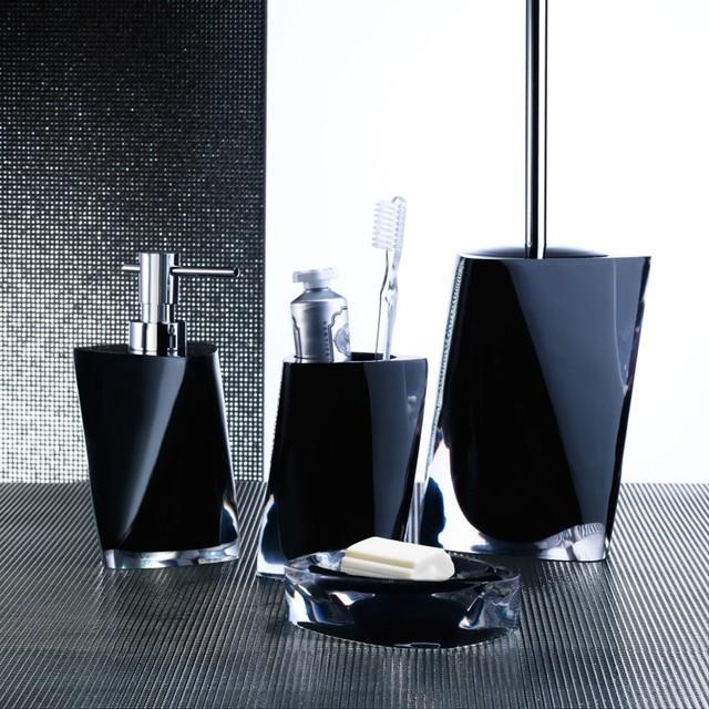 Twist black bathroom accessories contemporary bathroom accessory sets london by plumbonline - Bathroom accessories london ...
