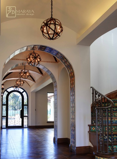Foyer And Entryways Usa : Spanish entry foyer hall mediterranean entrance