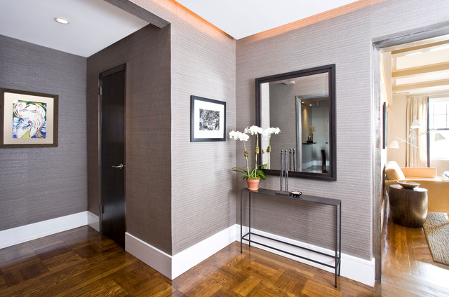 Narrow Entry Table riverside drive, nyc - contemporary - entry - new york -darci
