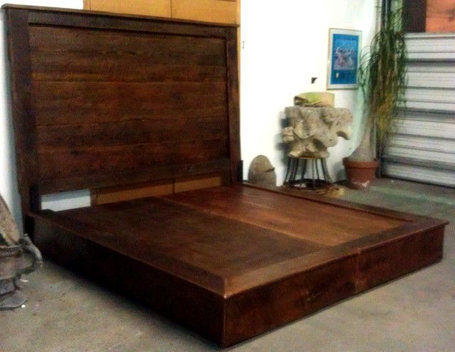 Reclaimed Barn Wood Beds Headboards Platform Contemporary
