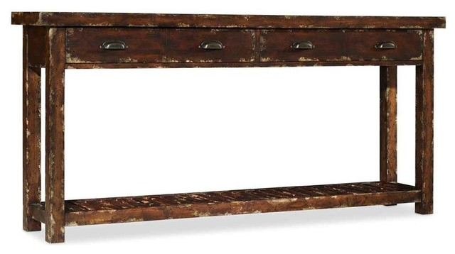 Shop houzz 2 drawer 72 console table console tables for Sofa table 72