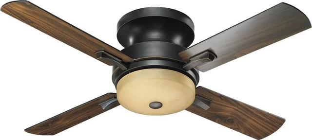 Three Light Old World Hugger Ceiling Fan.