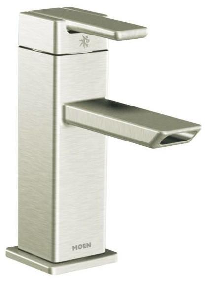 Moen Genta Chrome 1 Handle Bathroom Faucet: Moen 90 Degree 1-Handle Low Arc Bathroom Faucet