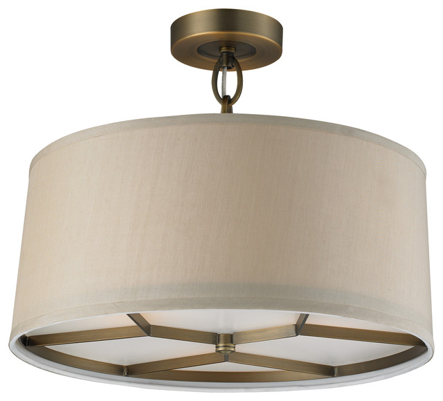 baxter 3light pendant in brushed antique brass lighting