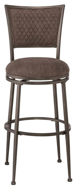 Swivel Counter Stool Distressed Pewter Finish