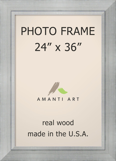 "Picture / Photo Frame 24""x36, Romano Silver, Outer Size 31""x43"""