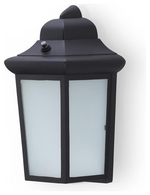 Bella Outdoor Black Lantern Wall Light