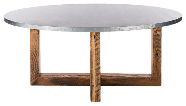 Winston Oval Zinc Top Table Farmhouse Dining Tables by Kingston Krafts