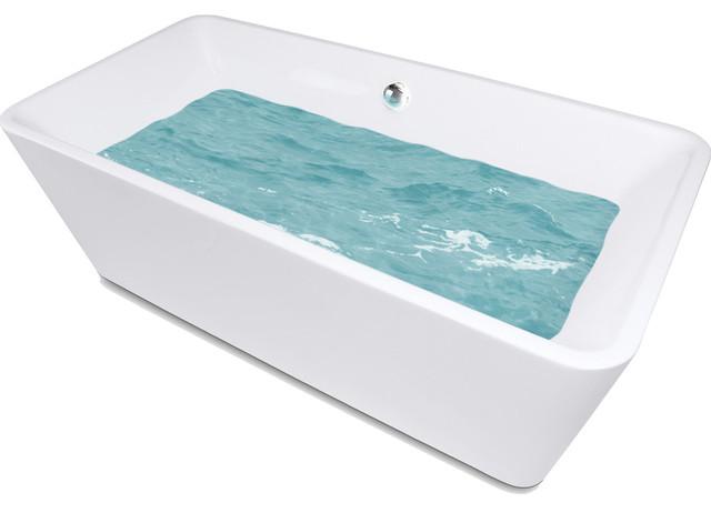 "Akdy Ak-Zf245 Europe Style White Acrylic Free Standing Bathtub, 67""."