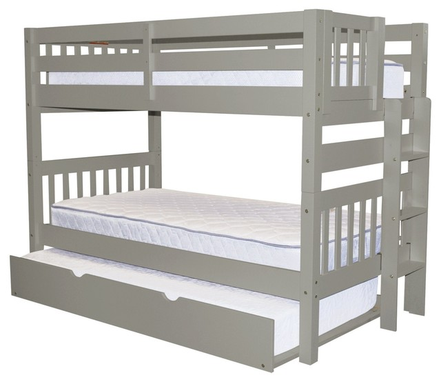 Bedz King Bunk Beds Twin Over Twin End Ladder And Twin Trundle