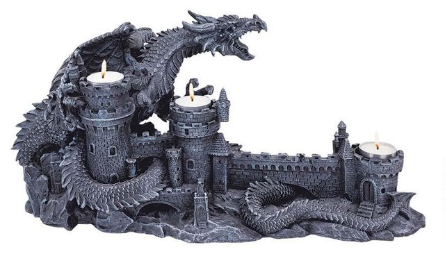 8 5 Quot Gothic Medieval Dragon Castle Candle Holder Stand