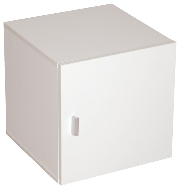 Cubo Door Container With 1 Door Plastic Handles Modern Storage