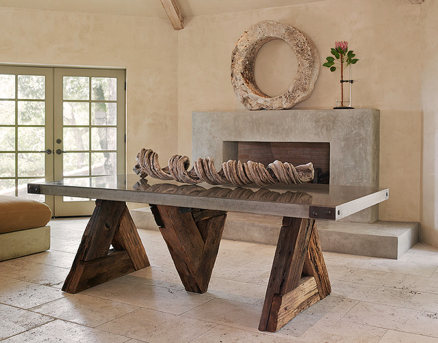 Triangle Table with Concrete Top - Eclectic - Dining Room - San ...